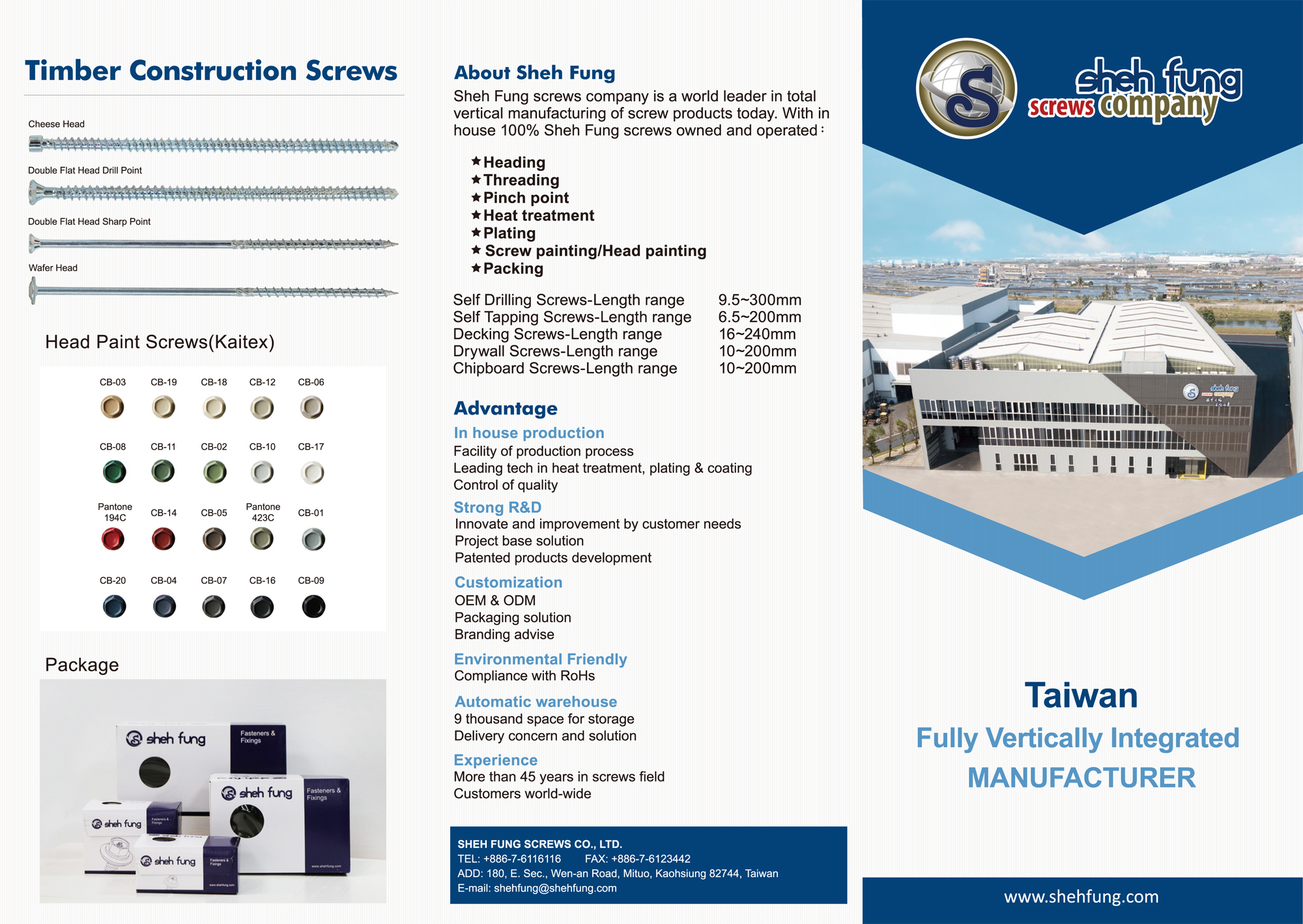 SHEH FUNG SCREWS CO., LTD. _Online Catalogues