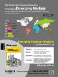 Emerging Fastener Markets Magazine Aug. 2020 Issue