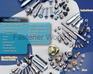 Special Parts per Customer Drawing, Special Assembly Parts, Thermal Spring Screws, Automotive Screws & Bolts, Sems, Socket Cap Screws, Dowel Pins, Lathed Parts(SCREWTECH INDUSTRY CO., LTD. )