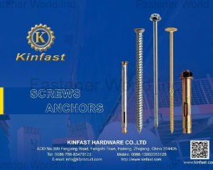 Anchors, Concrete Screws, Wood Construction Screws, Chipbaord Screws, Safety Screws, Drywall Screws, Carriage Bolts, Hex Head Bolts, Special Bolts