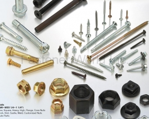 Nuts, Bolts & Screws, Small Screws (Hex, Square, Heavy, High Nuts Flange, Cone, Lock Nuts, Slot, Castle Nuts, Weld Nuts, Customized Nuts, Auto parts, Hex head, Socket Head, Flange Head, Wheel Zerk Axle, Chipboard, Drywall, Self Drilling Screws, Customized Screws)